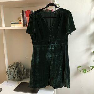 Crushed velvet A line dress